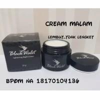 Night Cream Wajah Black wallet BPOM/ Krim Malam BW/ Krim Lightening