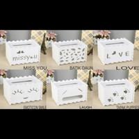 Kotak Tisu Vintage Bahan WPC/ Tempat Tissue Artistik/ Kotak Tisue DIY