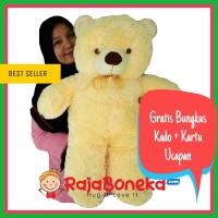 Boneka Beruang Teddy Bear Jumbo Cream 80cm