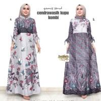 Gamis Batik Wanita Muslim Terbaru / Gamis Batik Kombinasi