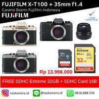 Harga fujifilm x t100 xt100 mirrorless digital camera bo xf 35mm f1 | Pembandingharga.com