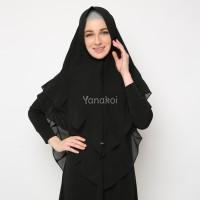 Hijab Instan -Jilbab Khimar Zanetta Warna Hitam