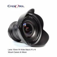 Lensa Casiotel 15mm f4 bukan laowa mount canon dan nikon