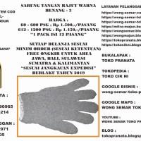 Sarung Tangan Rajut Warna Benang - 3