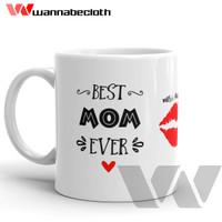 Gelas Mug Keramik Hadiah Souvenir Mug Best Mom Ever