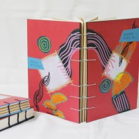 Coptic Stitch Notebook - Particle No. 06 - Mixed Paper