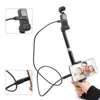 Selfie stick with micro usb adapter tongsis for Dji osmo pocket