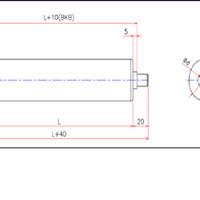Steel Gravity Roller D60 W650