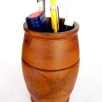 Tempat Alat Tulis Kayu jati   Wooden Pen Holder