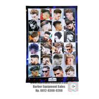 Poster Gambar Model Rambut Barbershop Pria