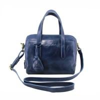 Handbag Milea Navy - Kenes Leather Bag