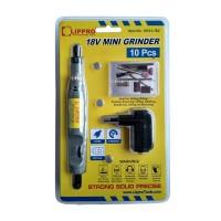 [FS] LIPPRO MINI GRINDER 18V - BOR BATERAI MINI SET 10 PCS