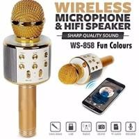 WSTER 858 WS 858 Mic Karaoke Bluetooth Microphone Wireless