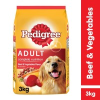 Pedigree Dry 3kg Makanan Anjing Kering rasa Beef & Veg