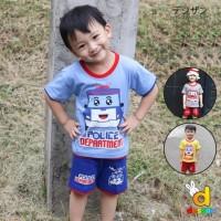 Baju Setelan Anak Laki-Laki Dessan Transport NEW SERIE