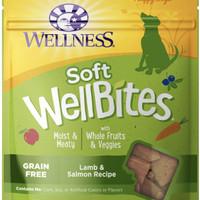 Wellness WellBites Lamb & Salmon Recipe Soft & Chewy Dog Treats, 6-oz