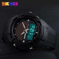 Harga jual jam tangan digital wanita oakley skmei bizzare fullhitam | antitipu.com