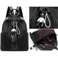 tas ransel wanita kulit pu bulu bag pack backpack fashion import 11361