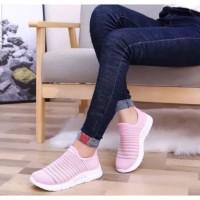 TERBARU!! Sepatu Casual HM 02 Sneakers Wanita Keren - Putih, 38
