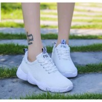 TERBARU!! Sepatu Casual OJN 02 Sneakers Wanita Keren - Putih, 37
