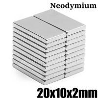 Magnet Super Neodymium Kepingan persegi kotak NdFeB 20 x 10 x 2 mm