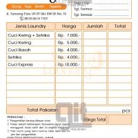 Jual Nota Laundry Di Jawa Tengah Harga Terbaru 2019