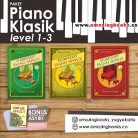 PAKET BUKU PIANO KLASIK LEVEL 1 - 3
