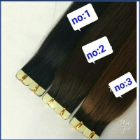 hair extension rambut sambung asli tape 50cm 1ikat 15 lembar thumbnail