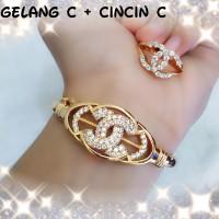 xuping/perhiasn lapis emas set dewasa gelang+cincin C