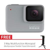 GoPro Hero7 / Hero 7 White Edition + 3 Way Monopod