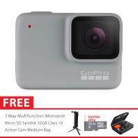 GoPro Hero7 / Hero 7 White Edition Combo 3 Way Deluxe 32GB