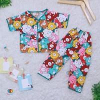 Harga piyama kancing uk 2th katun baju tidur babydolls cowok | antitipu.com