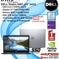 DELL Vostro 5481 Intel Core i7-8565U/8GB/1TB+128GB SSD/VGA/WIN10PRO