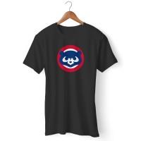 Kaos Chicago Cubs Vintage Logo Old School Throwback Baseball Golden St