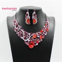 Harga kalung pesta premium korea berlian fashion etnik kebaya murah | Pembandingharga.com