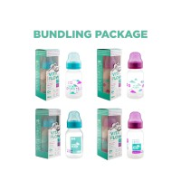 VITAFLOW (Box of 4 item) Botol Susu Multifungsi PP 140ml Dot Size S