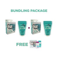VITAFLOW Pouch Package: Buy 2 Pouch 240ml Free 1 Botol ASI 140ml isi 2