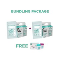 VITAFLOW Mini Pouch Package : Buy 2 Standing Pouch 100ml Free 1 Botol