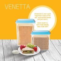 FLASH SALE! Canister Toples Roti Snack Venetta 2.1 Ltr
