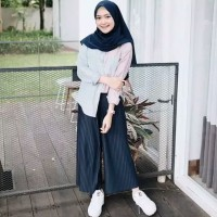 Bawahan Wanita Murah Celana Panjang Kulot Plisket