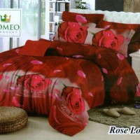 Bedcover Romeo ukuran 120 x 200 / Extra Single / No.3 - Rose Lover