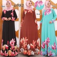 Baju Gamis Wanita Terbaru Gamis Jersey Gamis Jumbo XXL 6982
