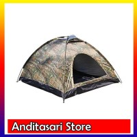 Tenda Camping kemping dome camo loreng 2-3 orang dengan alas terpal