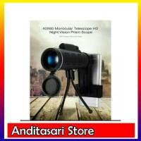 TELESCOP MONOCULAR 40x60 lensa optik zoom for HP / teropong monocular