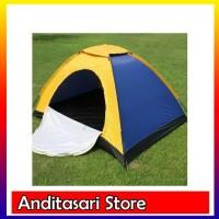 Tenda Camping Lipat 3 orang dengan alas tenda dan jaring antinyamuk