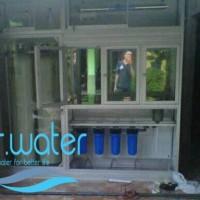 Sedia depot air minum lengkap mulai dari etalase - tandon dan perpipa