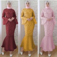 Brukat Dress Long Maxi Longdress Baju Gaun Wanita Murah Brokat Panjang