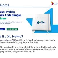 XL HOME 4G router PAKET free 3 Bulan
