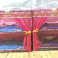 Kasur kelambu dua tingkat susun barbie kayu boneka ukuran besar