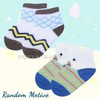 Kaos Kaki Bayi Newborn 3pcs BY53 RANDOM Laki-Laki Perempuan / Kaos